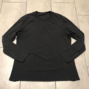 Lululemon Mens Long Sleeve Top T-shirt Black Luon